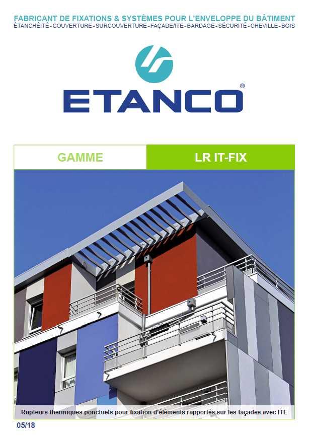 store terrasse fixation en rupture de ponts thermique-etanco